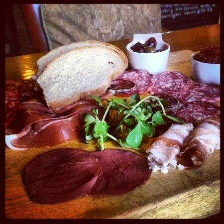 Constable Burton, UK: antipasto sharing platter