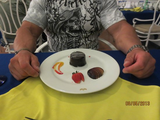 Riu Palace Las Americas: Dessert in the Steakhouse