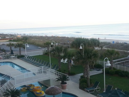 Hampton Inn &amp; Suites Myrtle Beach Oceanfront Resort: View from the Balcony