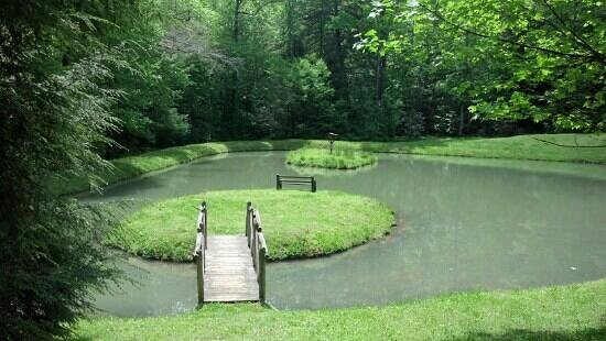 Dahlonega, GA: Island and pond May 8, 2013