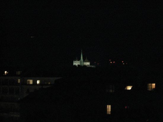 Suisse Hotel: view of st. peter's at night from room