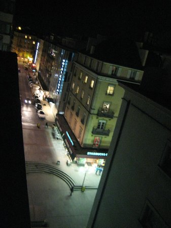 Suisse Hotel: view from a balcony at night