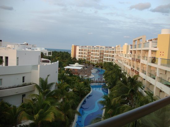 Excellence Playa Mujeres: view from room over the lazy river