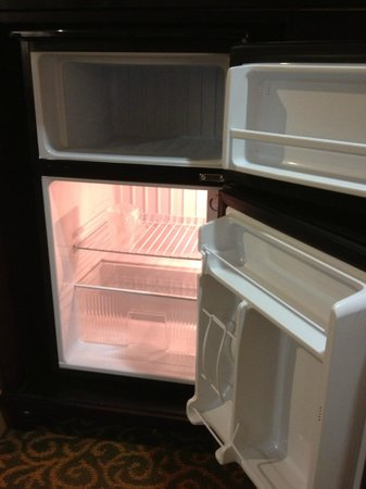 Redlands, Californien: Super clean mini-fridge (with large freezer!)