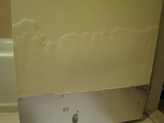 Comfort Inn Lower East Side: Severe water damage to bathroom door