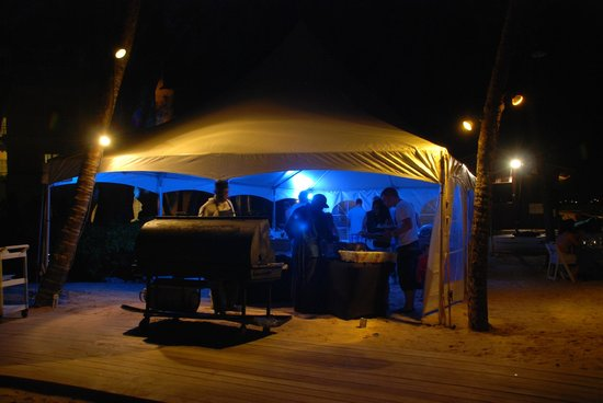 ‪‪Turtle Beach by Elegant Hotels‬: Saturday Night Beach Barbecue‬
