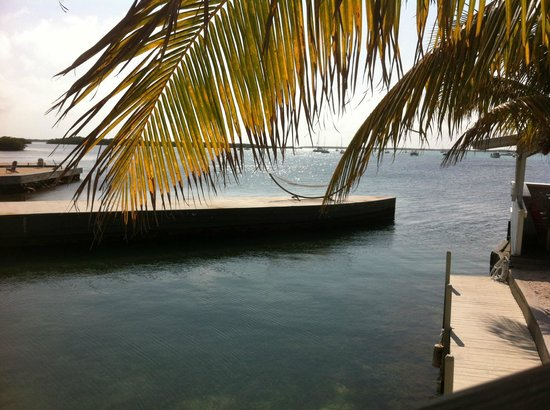 Casa Morada: Here's a view from their own little island of the pier where you can do yoga in the mornings.