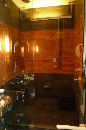 Andaz 5th Avenue: Shower area