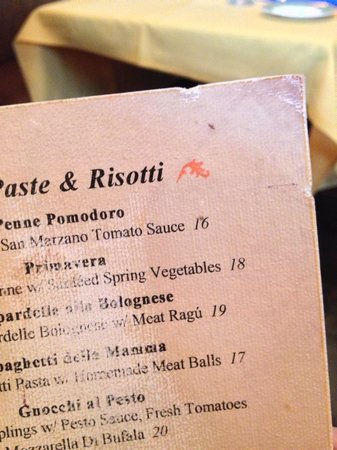 Greenwich, CT: more dirty menu