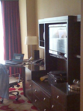 Palomar Chicago, a Kimpton Hotel: View of the HDTV and work desk.