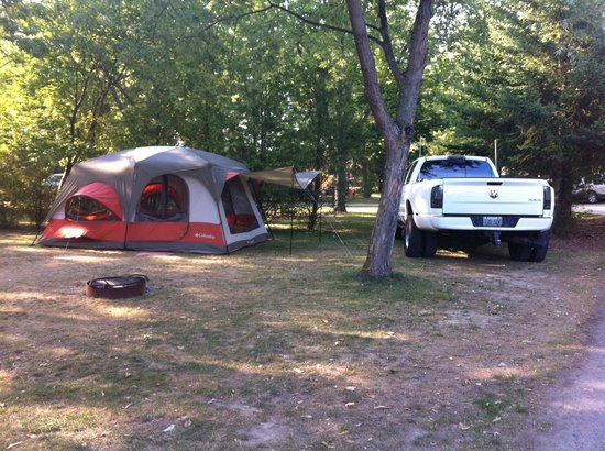 Campark Resorts: Our campsite!