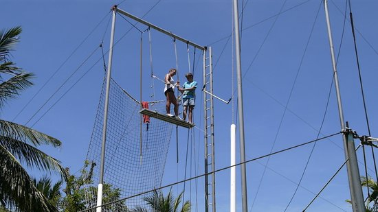 Club Med Bali: trapeze scary but fun
