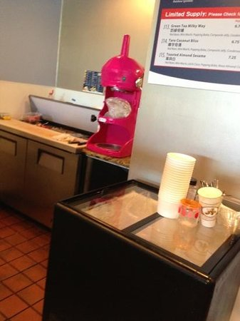 Dublin, CA: View Behind The Counter including Shave Ice Machine