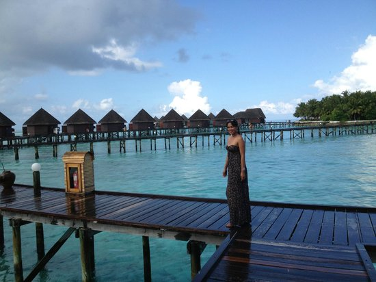 Thulhagiri Island Resort: view of the water villas in the background