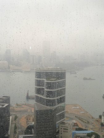 Conrad Hong Kong: View from room, overlooking Marriott