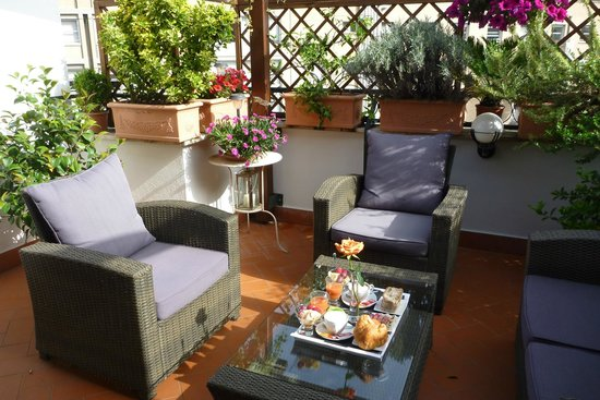 Althea Inn: Terrace of the room