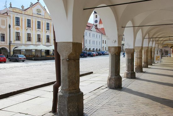 Telc, Tschechien: the old town square