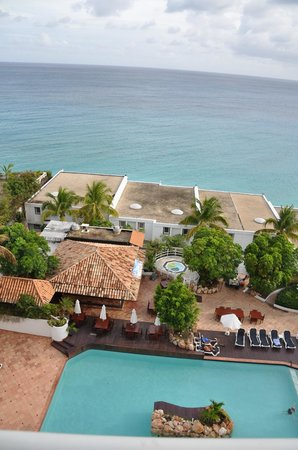 Cupecoy Bay, St-Martin / St Maarten: view from the room looking down.....