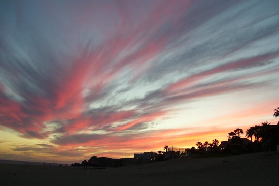 Pueblo Bonito Sunset Beach: Beautiful sunset from the beach