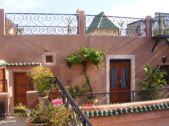 Riad Tara: Saphir suite adjoining roof terrace