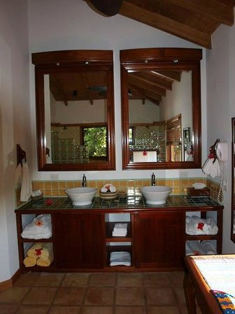 Hamanasi Adventure and Dive Resort : bathroom 