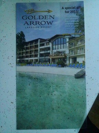 Golden Arrow Lakeside Resort : My upgrade