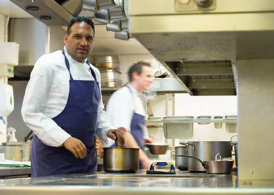 Gidleigh Park Hotel: Michael Caines in the kitchen