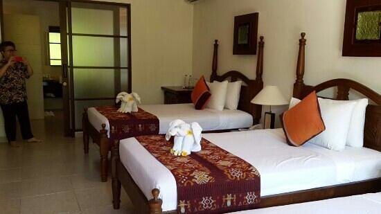 Kori Ubud Resort: a very spacious and very clean room