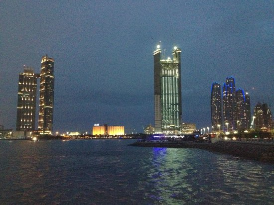 Hilton Abu Dhabi Hotel: View of Hilton from across the water