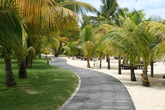 Dinarobin Hotel Golf & Spa: quiet safe and beautiful walk ways
