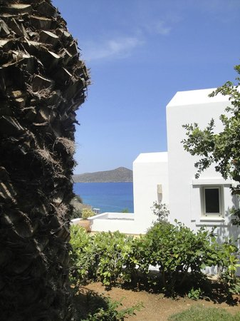Aquila Elounda Village Hotel: sea view from bungalow's terrace