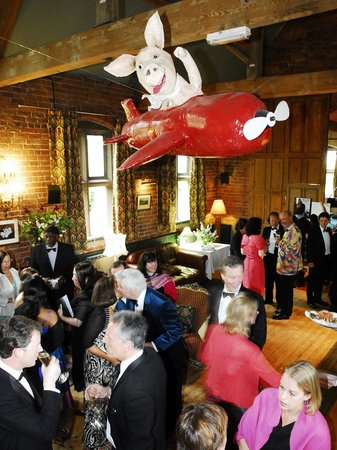 Oswestry, UK: Party time-pigs do fly!