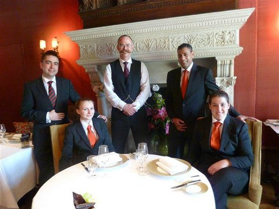 Egham, UK: The Tudor Room Front of House team led by Alper