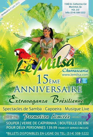 Laval, Canad: Extravaganza Brsilienne - Le Milsa, 15me Anniversaire