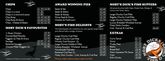 Haverfordwest, UK: Our Menu