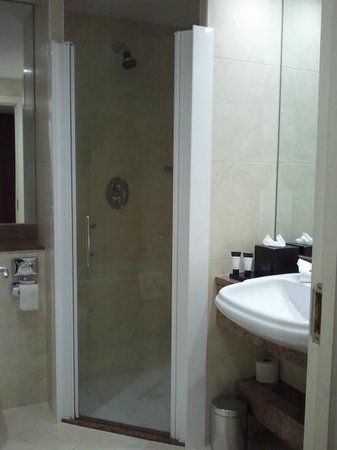 Dun Laoghaire, Ireland: Bathroom had both a stand-up shower and a bath though the couple we were with only had a stand-u
