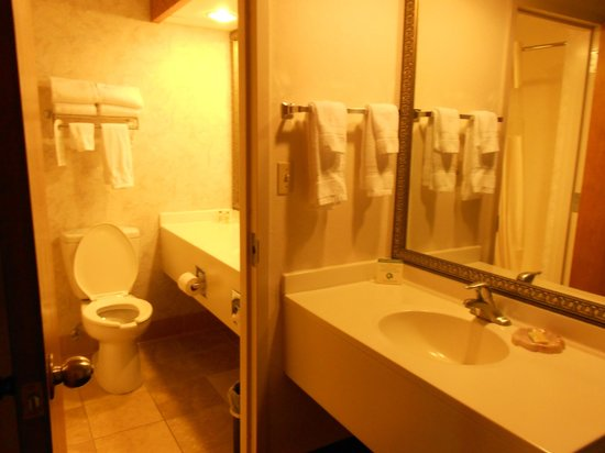 Greenstay Hotel &amp; Suites: sink and bathroom