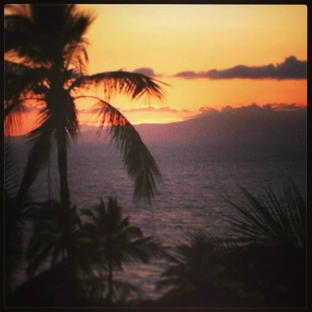 Makena, : Sunset from Balcony