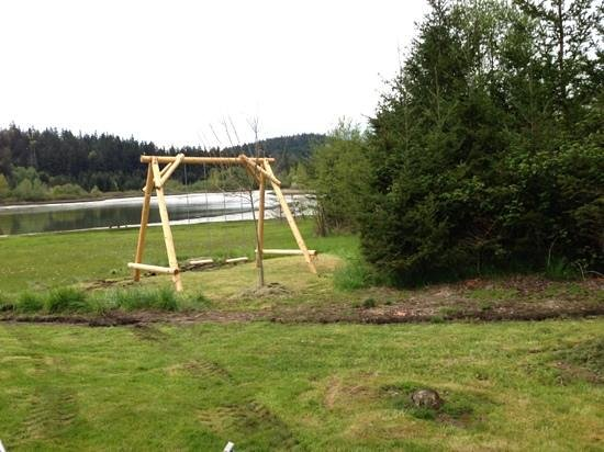 Deer Harbor, : Swing set, bikes, and canoe available for guest use