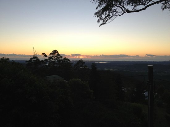 Tamborine Mountain Bed & Breakfast: Sunrise from the deck
