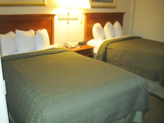 Quality Inn Heart of Savannah: 2 double beds, plenty of pillows