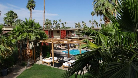 The Curve Palm Springs Hotel: vue sur la piscine