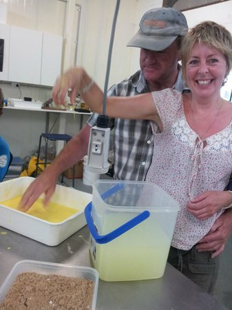 Eden, Australia: Visitors enjoying the school holiday Slimy Sand workshop