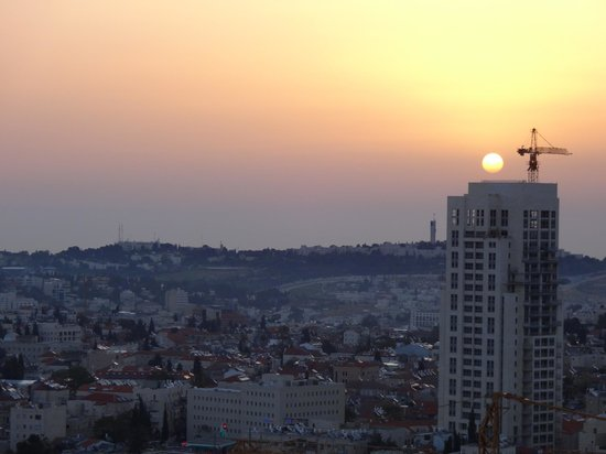 Crowne Plaza Hotel Jerusalem: Amanhecer em Jerusalm