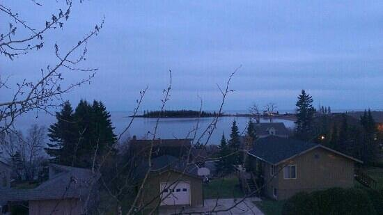 Grand Marais, MN: Dusk view of artists point