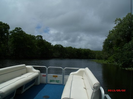 DeLand, : Day on River on Hontoon Pontoon