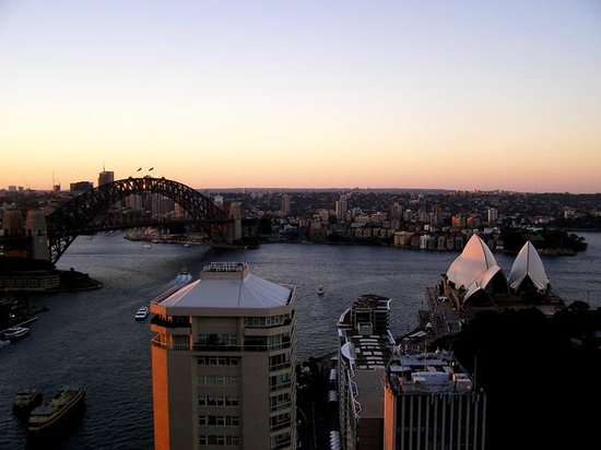 Sunset from the Intercontinental Sydney.