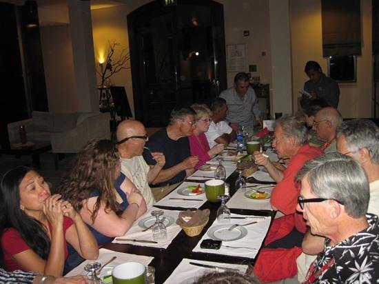 Dead Sea Region, Giordania: Below 393: group dinner
