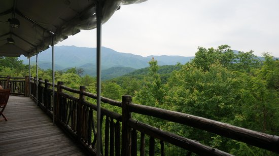 The Lodge at Buckberry Creek: the view from breakfast balcony