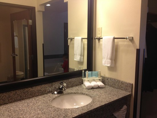 Holiday Inn Express Ashland: Sink area